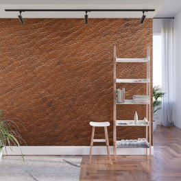 Brown Leather Wall Mural