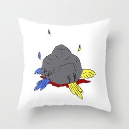 2 birds 1 stone Throw Pillow