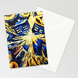 Tardis By Van Gogh - Doctor Who Stationery Cards