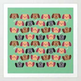 Dogs Love Bones I Art Print