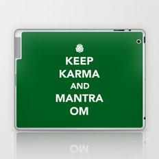 Keep Karma And Mantra Om Laptop & iPad Skin