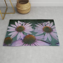 Beautiful summer with pink Echinacea / Daisy flowers Rug