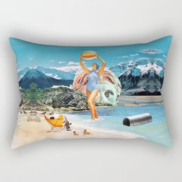 Poseidon in Love Rectangular Pillow