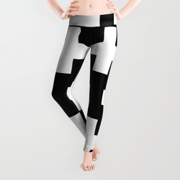 black-and-white pattern Yakshi Leggings