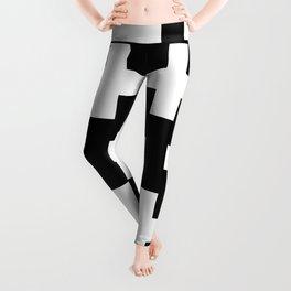 black-and-white pattern Yakshi Leggings