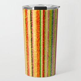 Colorful Stripes and Curls Travel Mug