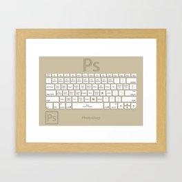 Photoshop Keyboard Shortcuts Brwn Tool Names Framed Art Print