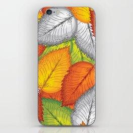 Autumn leaves #1 iPhone Skin