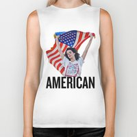 american Biker Tanks featuring American by Brandon Gendron