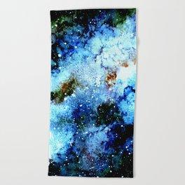 Cool Blue Galaxy Beach Towel
