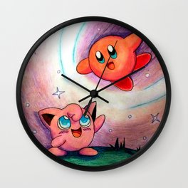 Jigglypuff and Kirby Wall Clock