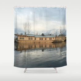 Houseboat on Dal Lake Shower Curtain