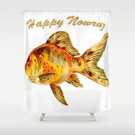 Elegant Happy Nowruz Goldfish Persian New Year Shower Curtain