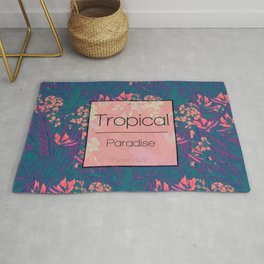 Tropical Paradise: Purple Haze Rug