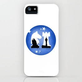 KNIGHT ROOK (Blue) iPhone Case