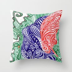 Brain Smog Throw Pillow