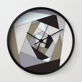Rotating Geometric Layers Wall Clock