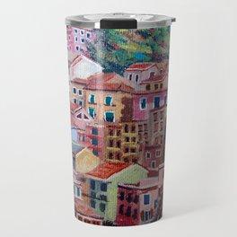 Colourful houses Travel Mug