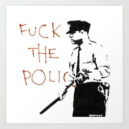 Banksy F*ck the Police Artwork Reproduction for Prints Posters Tshirts Men Women Kids Art Print
