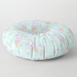 Berry Melty Bunnies Floor Pillow