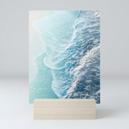 Soft Turquoise Ocean Dream Waves #1 #water #decor #art #society6 Mini Art Print