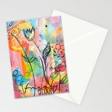 Freely Bloom Watercolor Stationery Cards