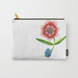 Red Wonder Flower Carry-All Pouch
