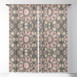 Knitter's mandala Sheer Curtain