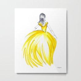 Gold Dress Metal Print
