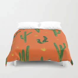 Desert Vibes Orange Duvet Cover