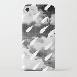 Storm Clouds + Droplets iPhone Case
