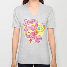 Fight Like a Girl Unisex V-Neck