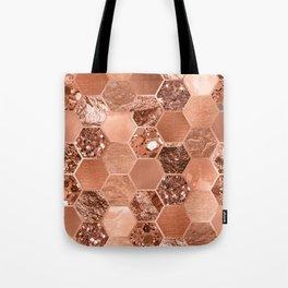 Rose gold hexaglam blonde Tote Bag