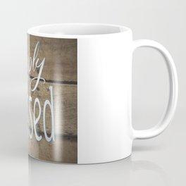 Simply Blessed on Barnwood Coffee Mug