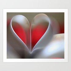 It was a heart Art Print