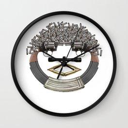 GUN FACE Wall Clock