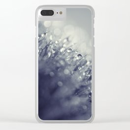 blue with drops Clear iPhone Case