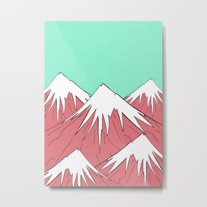 The mountains and the sky Metal Print