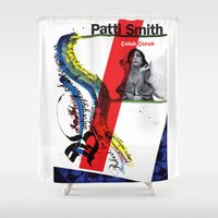 calligraphy Shower Curtains featuring Calligraphy 1 by omerfarukciftci