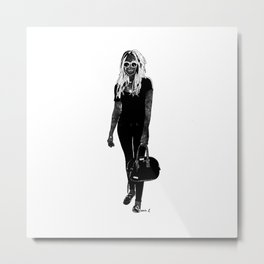 She's Made of Outer Space Metal Print