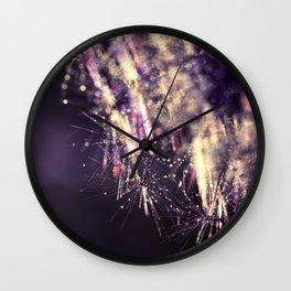 dandelion purple III Wall Clock