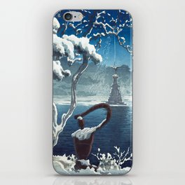 Castle in the Sky japanese vintage mashup iPhone Skin