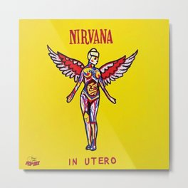 Utero | Pop Art  Metal Print