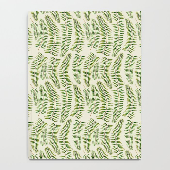 Palm leaves in tiger print Notebook
