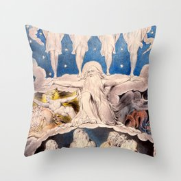 "William Blake ""When the Morning Stars Sang Together"" Throw Pillow"