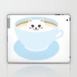 Cute Kawai cat in blue cup Laptop & iPad Skin