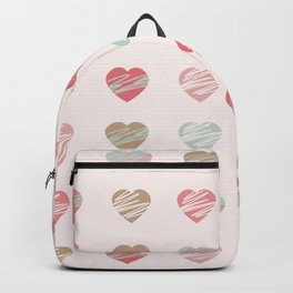 AFE Pastel Hearts Pattern Backpack