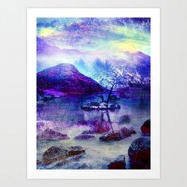 Abstract Winter Lake Art Print