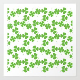 Lucky Shamrock Clover Leaves Art Print