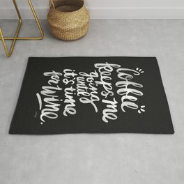 Coffee & Wine – White Ink Rug
